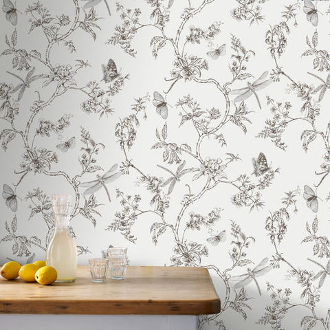 ... Nature Trail White Mica Wallpaper From The Modern Living Kitchen U0026 Bath  Collection By Graham U0026