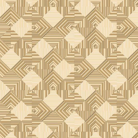 Navajo Wallpaper in Metallic, Cream, and Ivory by Antonina Vella for York Wallcoverings