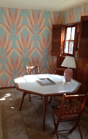 Navajo Wallpaper in Pastel design by Cavern Home