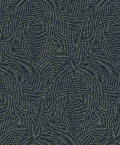 Sample Navy Contoured Linework Geometric Wallpaper by Walls Republic