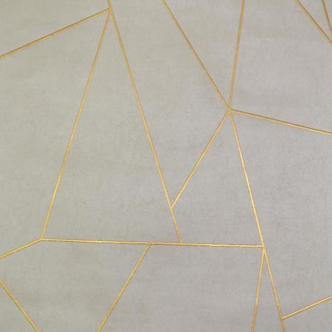 Nazca Wallpaper in Almond, Pearl, and Gold by Antonina Vella for York Wallcoverings