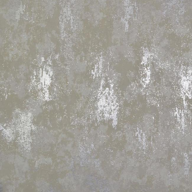 Sample Nebula Wallpaper in White and Silver by Antonina Vella for York Wallcoverings