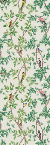 Netherfield Wallpaper in Ivory and Leaf from the Mansfield Park Collection by Osborne & Little