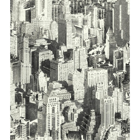 New York City Peel & Stick Wallpaper in Black by RoomMates for York Wallcoverings