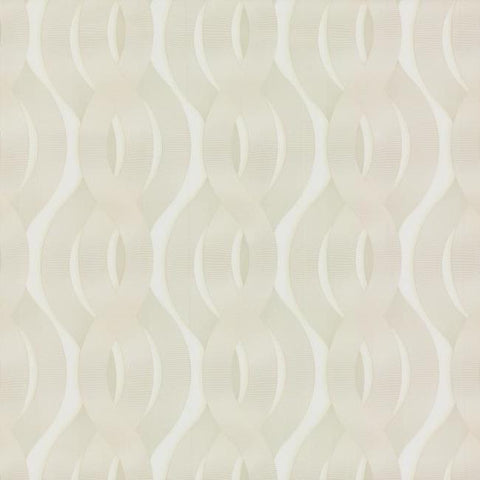 Nexus Wallpaper in White and Cream from the Urban Oasis Collection by York Wallcoverings
