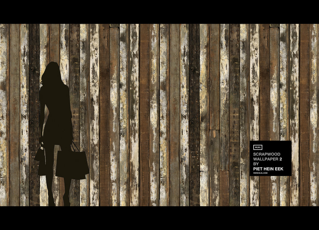 No. 13 Scrapwood Wallpaper design by Piet Hein Eek for NLXL Wallpaper