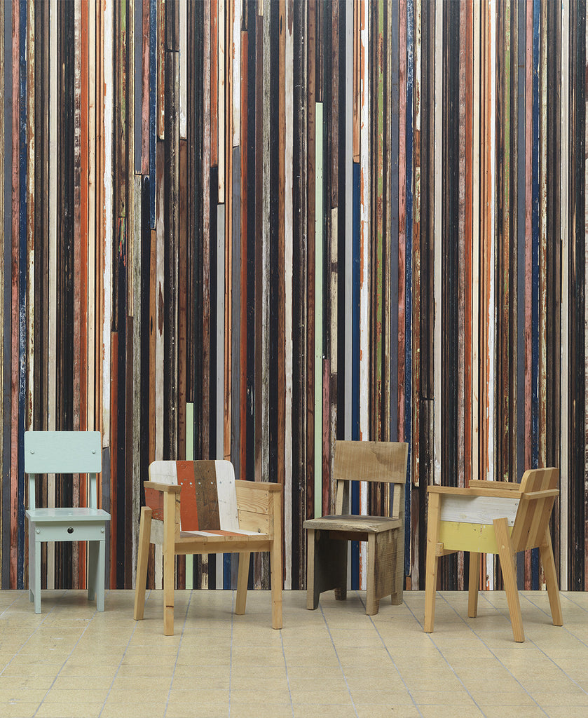 No. 15 Scrapwood Wallpaper design by Piet Hein Eek for NLXL Wallpaper