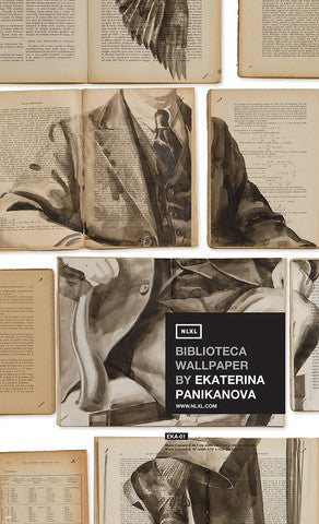 No. 1 Biblioteca Wall Mural by Ekaterina Panikanova for NLXL