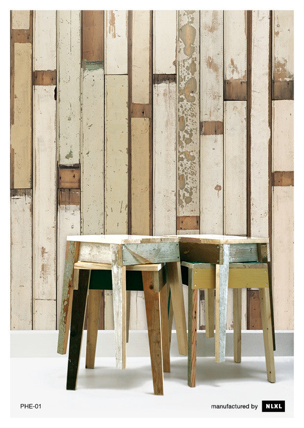 No. 1 Scrapwood Wallpaper design by Piet Hein Eek for NLXL Wallpaper