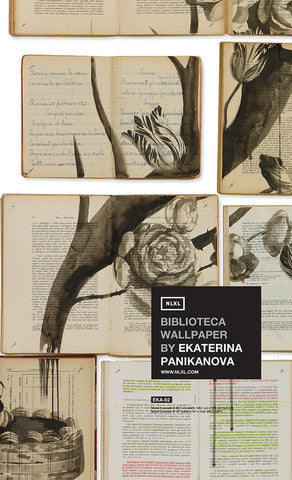 No. 2 Biblioteca Wall Mural by Ekaterina Panikanova for NLXL