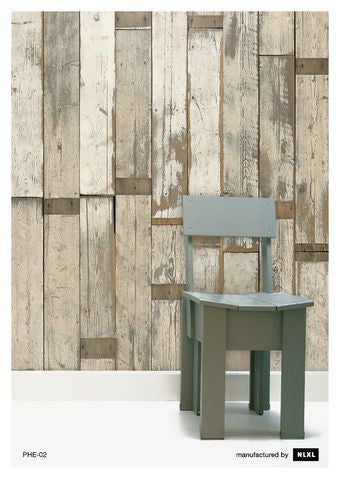 No. 2 Scrapwood Wallpaper design by Piet Hein Eek for NLXL Wallpaper