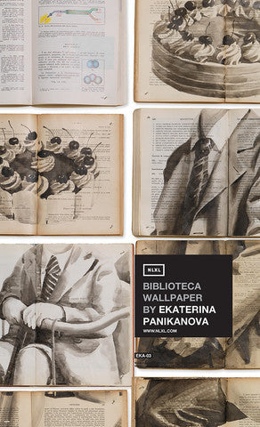 No. 3 Biblioteca Wall Mural by Ekaterina Panikanova for NLXL