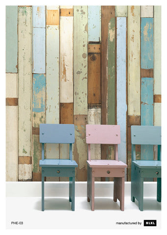 No. 3 Scrapwood Wallpaper design by Piet Hein Eek for NLXL Wallpaper