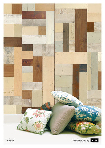 No. 6 Scrapwood Wallpaper design by Piet Hein Eek for NLXL Wallpaper