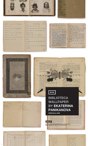 No. 7 Biblioteca Wallpaper by Ekaterina Panikanova for NLXL