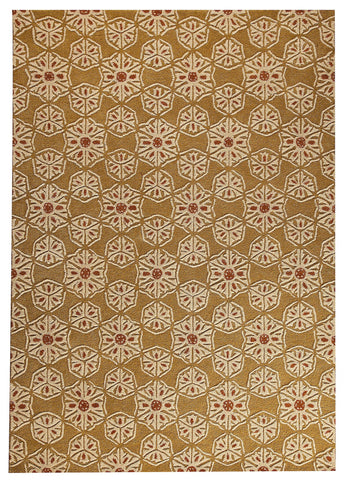 Normandie Collection Hand Tufted Wool Area Rug in Gold design by Mat the Basics