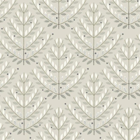 Norrland Wallpaper in Beige and Grey from the Norlander Collection by York Wallcoverings