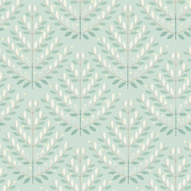 Norrland Wallpaper in Blue and Beige from the Norlander Collection by York Wallcoverings