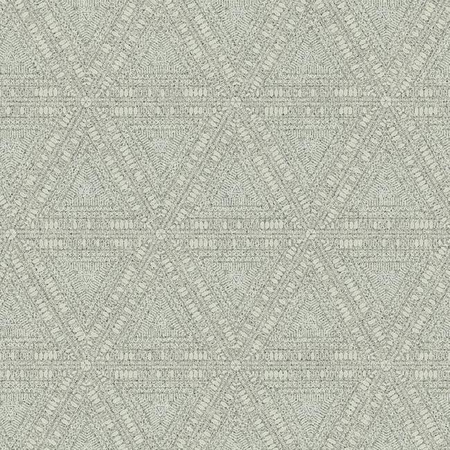 Norse Tribal Wallpaper in Grey from the Norlander Collection by York Wallcoverings