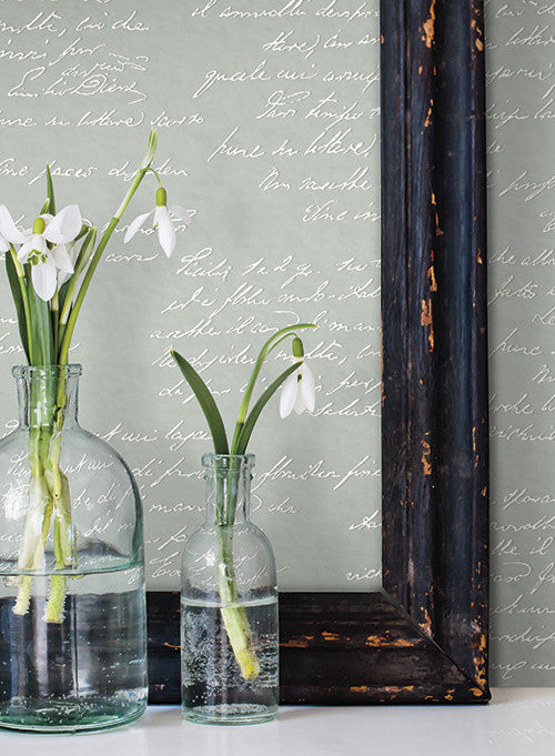 Noteworthy wallpaper in white and black from the magnolia - Joanna gaines bedding collection ...