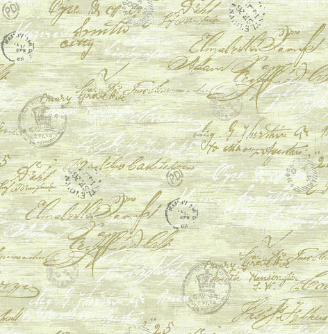 Nouveau Calligraphy Wallpaper in Luster from the Nouveau Collection by Wallquest