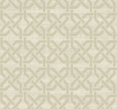 Nouveau Trellis Wallpaper in Camel from the Nouveau Collection by Wallquest