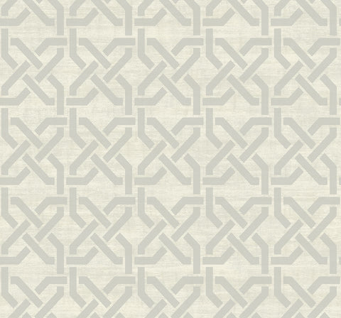 Nouveau Trellis Wallpaper in Dove from the Nouveau Collection by Wallquest