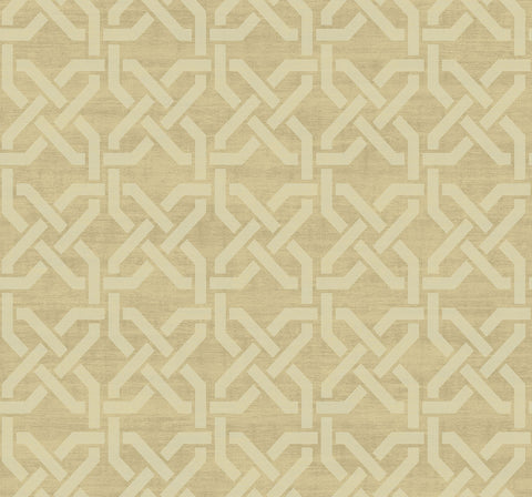Nouveau Trellis Wallpaper in Gilded from the Nouveau Collection by Wallquest