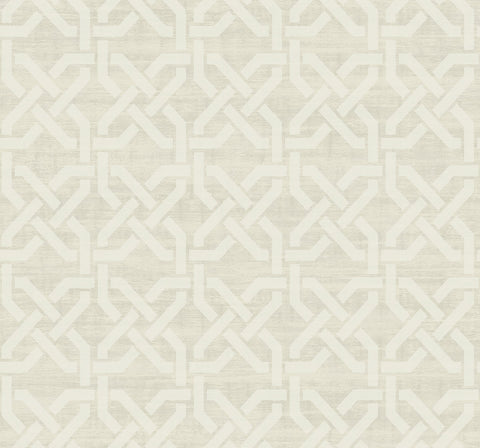 Nouveau Trellis Wallpaper in Sand from the Nouveau Collection by Wallquest