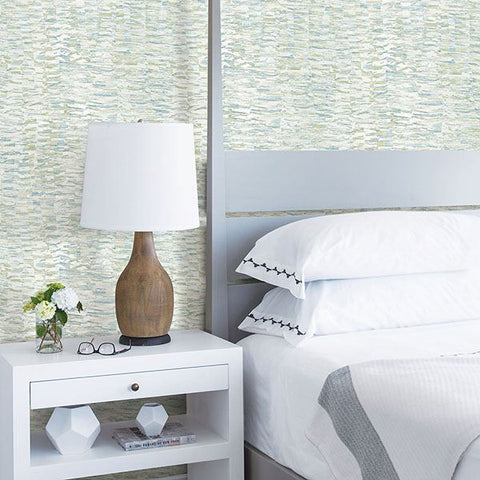 Nuance Abstract Texture Wallpaper in Blue from the Celadon Collection by Brewster Home Fashions