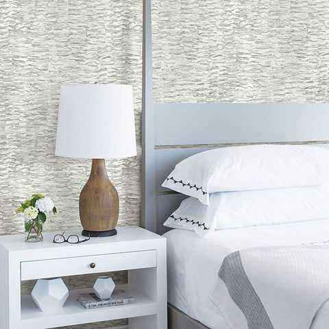 Nuance Abstract Texture Wallpaper in Grey from the Celadon Collection by Brewster Home Fashions