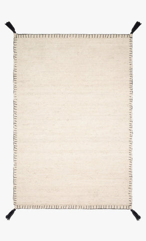 Oakdell Rug in White design by Ellen DeGeneres for Loloi
