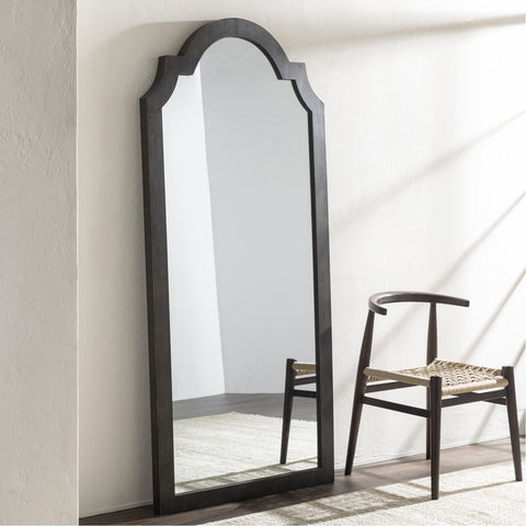 Oriel OIE-001 Arch/Crowned Top Mirror in Bronzed by Surya