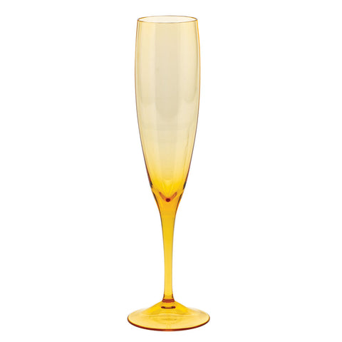 Optic Champagne Flute in Topaz