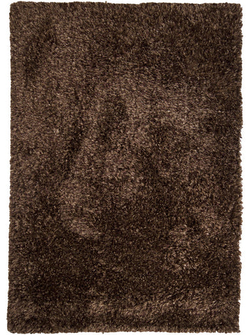 Orchid Collection Hand-Woven Area Rug in Dark Brown design by Chandra rugs