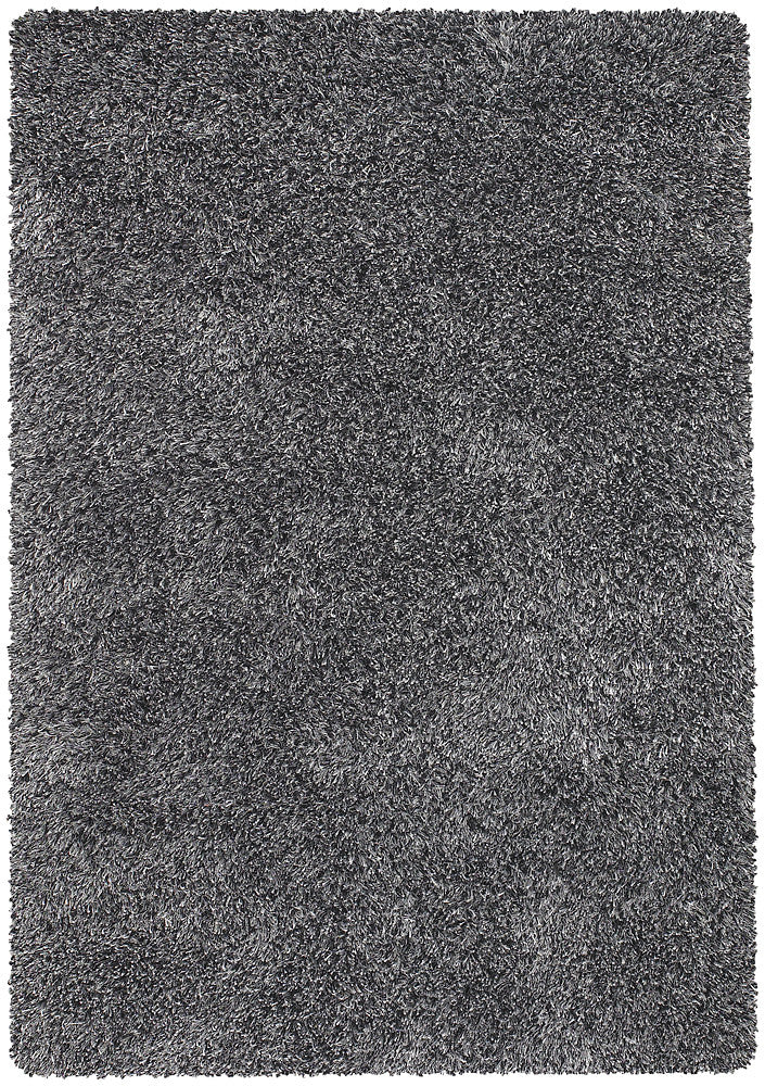 Orchid Collection Hand-Woven Area Rug in Black, Ivory, & Grey design by Chandra rugs