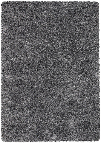 Orchid Collection Hand-Woven Area Rug in Black, Ivory, & Grey