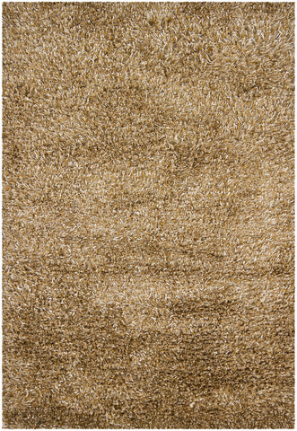 Orchid Collection Hand-Woven Area Rug in Brown & Tan