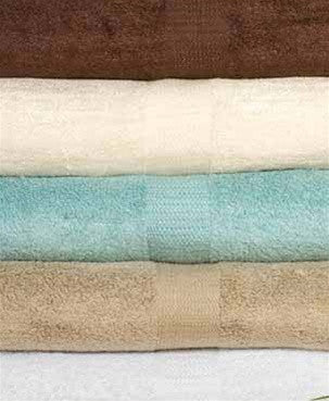 Organic Combed Cotton Towel Set of 3 in Various Colors