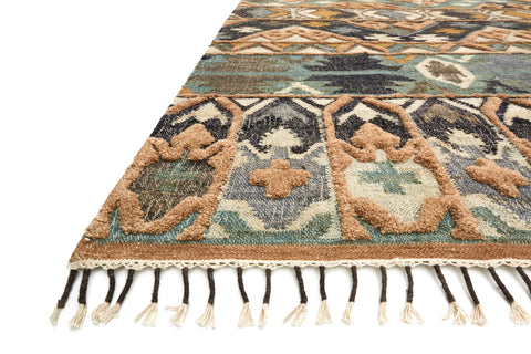 Owen Rug in Ocean & Camel by Loloi