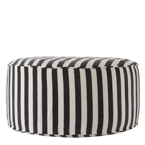Confect Pouf in White & Asphalt design by OYOY