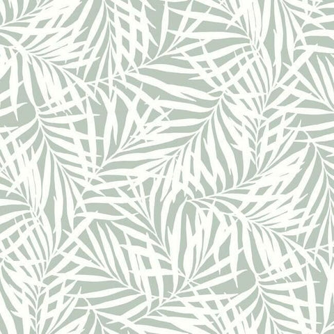 Oahu Fronds Wallpaper in Eucalyptus from the Water's Edge Collection by York Wallcoverings