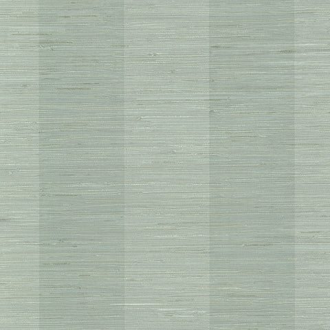 Oakland Aqua Faux Grasscloth Stripe Wallpaper from the Seaside Living Collection by Brewster Home Fashions