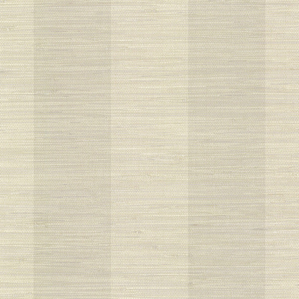 Sample Oakland Taupe Faux Grasscloth Stripe Wallpaper from the Seaside Living Collection by Brewster Home Fashions