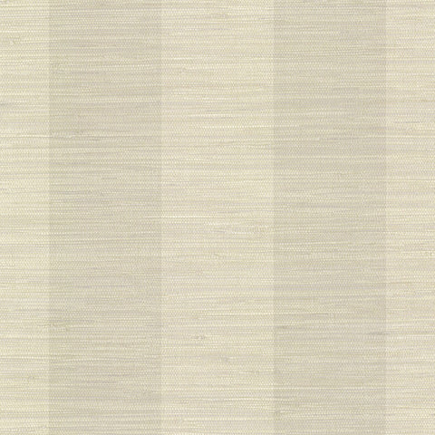 Oakland Taupe Faux Grasscloth Stripe Wallpaper from the Seaside Living Collection by Brewster Home Fashions