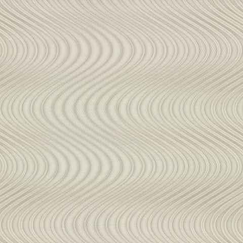 Ocean Swell Wallpaper in Taupe and Beige from the Urban Oasis Collection by York Wallcoverings