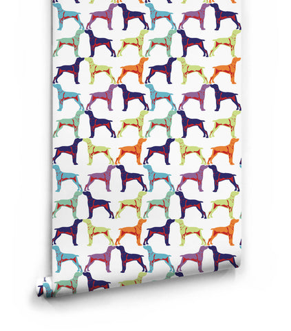 Off the Leash Wallpaper from the Ella & Sofia Collection by Milton & King
