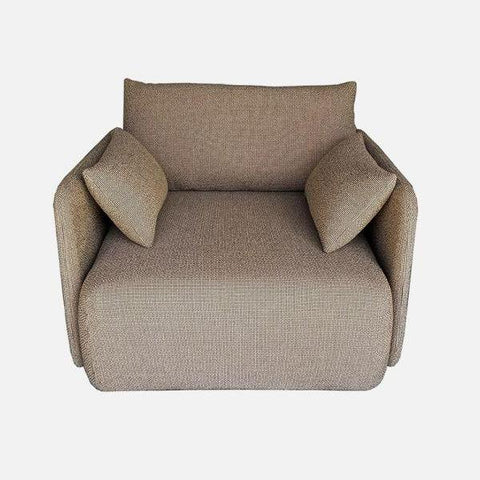 Offset Sofa Chair in Dark Sand design by Menu