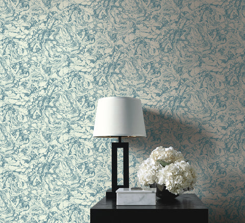 Oil and Water Wallpaper from the Caspia Collection by Wallquest