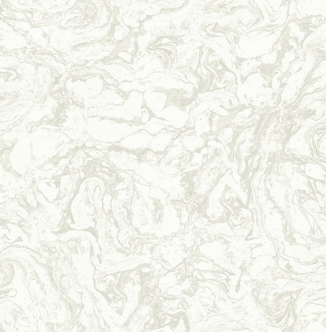 Oil and Water Wallpaper in White from the Caspia Collection by Wallquest